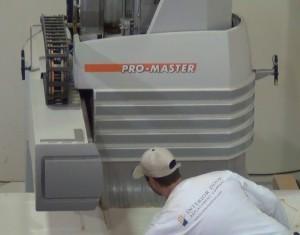 CNC milling machine cutting doors