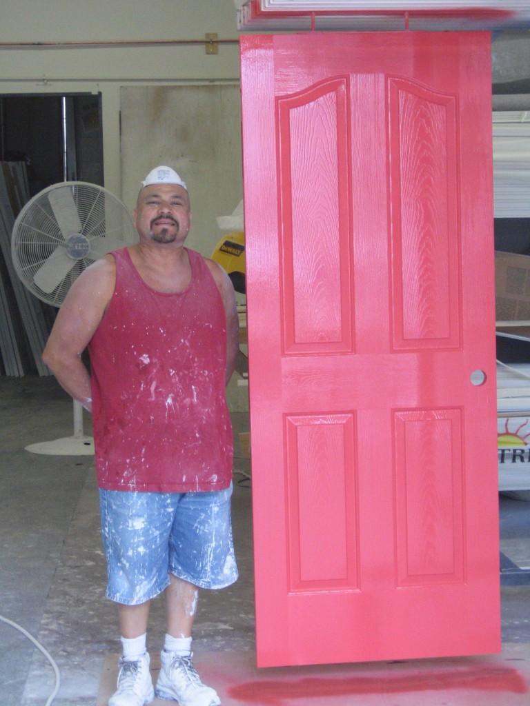 Sal with painted door