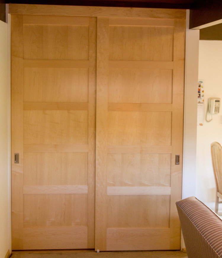 Maple-bypass-closet-3 & Custom Maple Bypass Doors in Palo Alto