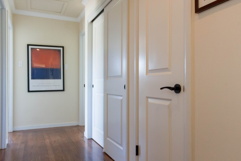 Cambridge interior doors with EMTEK levers
