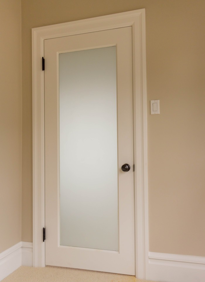 white laminate interior door
