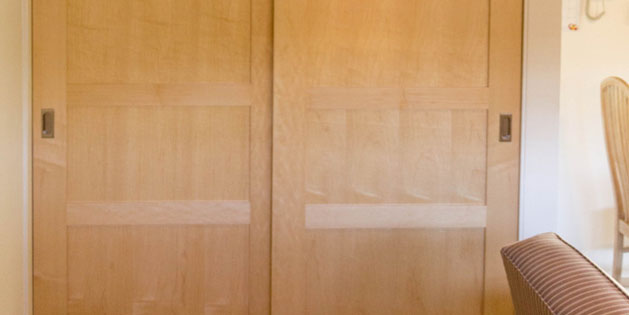 Custom Maple Bypass Doors In Palo Alto