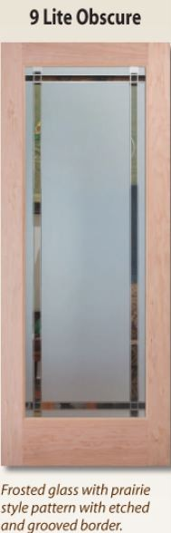 9-lite glass interior door