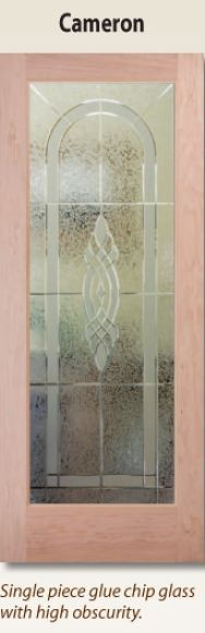Cameron 1-lite glass interior door