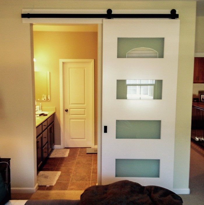 Beau Barn Door For Bathroom